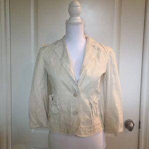Zara Basic Pinstripe Jacket